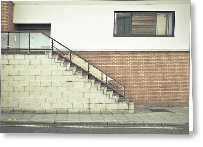Bannister Greeting Cards - Stairs  Greeting Card by Tom Gowanlock