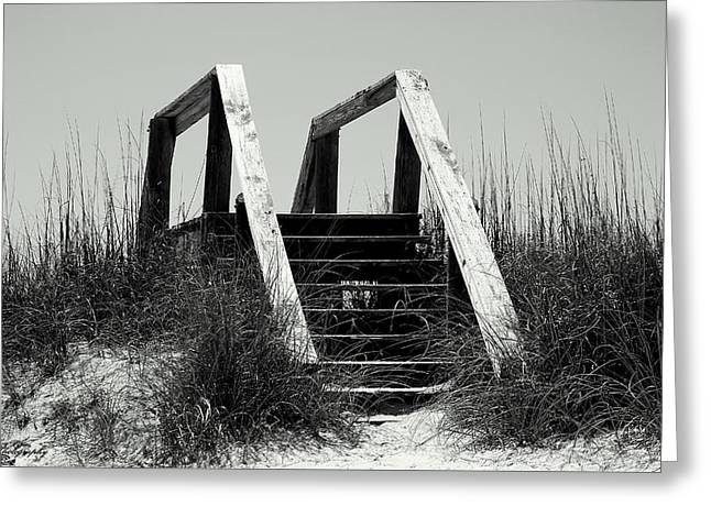 Panama City Beach Greeting Cards - Stairway To Heaven Greeting Card by Debra Forand