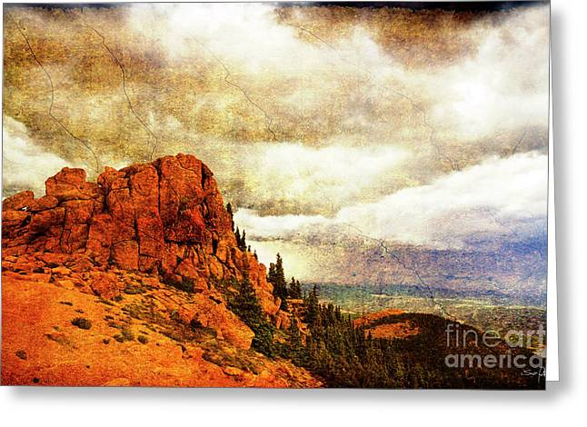 Manitou Springs Greeting Cards - Standing Against the Storm Greeting Card by Scott Pellegrin