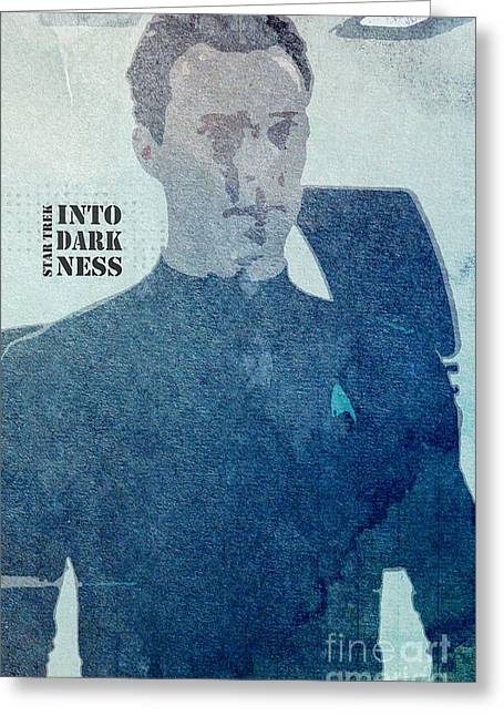 Recently Sold -  - Enterprise Mixed Media Greeting Cards - Star Trek Into Darkness Khan Greeting Card by Pablo Franchi