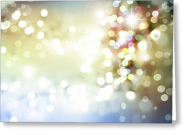 Twinkle Greeting Cards - Starry background Greeting Card by Les Cunliffe