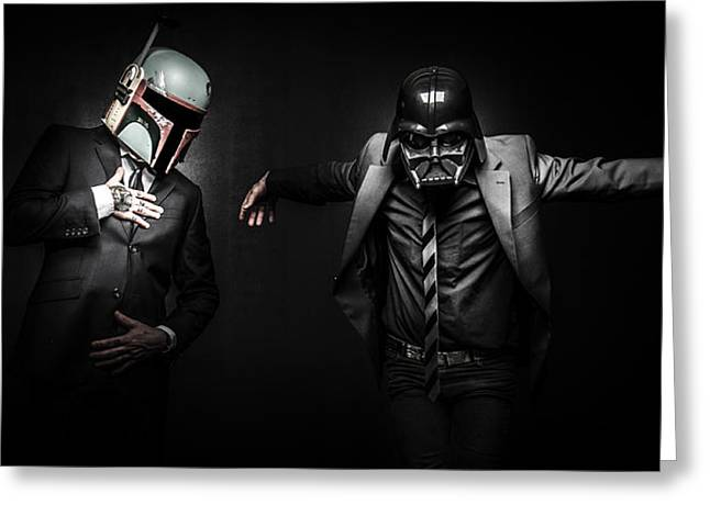 Starwars Suitup Greeting Card by Marino Flovent