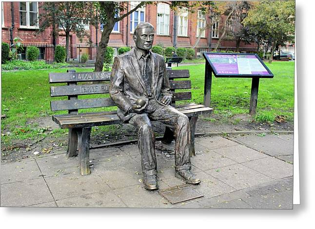 Statue Of Alan Turing Greeting Card by Martin Bond