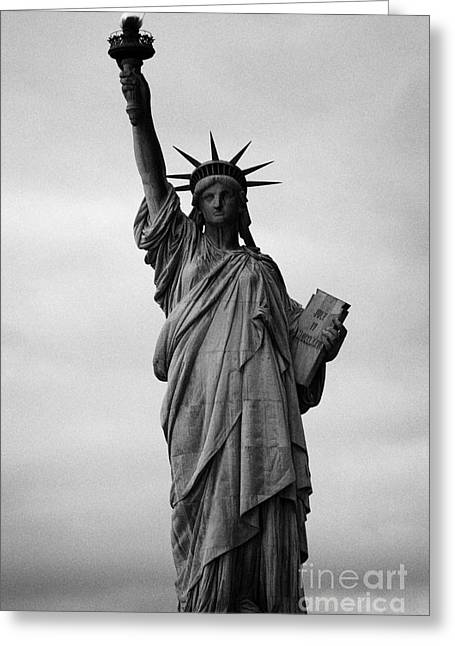 American Independance Photographs Greeting Cards - Statue of Liberty national monument liberty island new york city Greeting Card by Joe Fox
