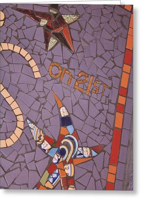 Store Fronts Ceramics Greeting Cards - Stella s Store Front  Greeting Card by Charles Lucas