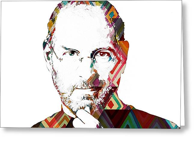 Steve Jobs Greeting Card by Celestial Images