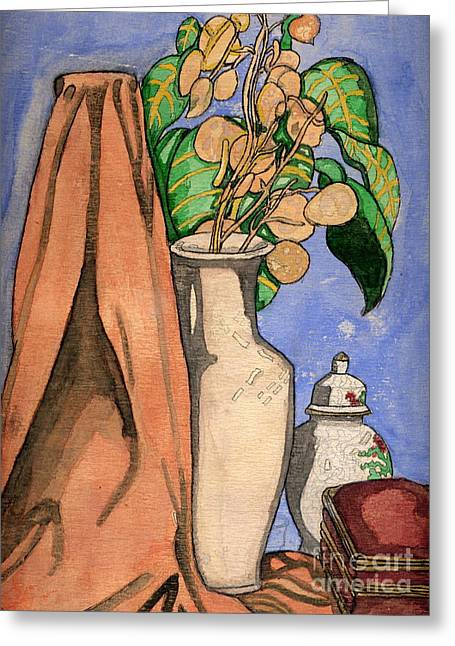 Flower Boxes Drawings Greeting Cards - Still life  Greeting Card by Bill Richards