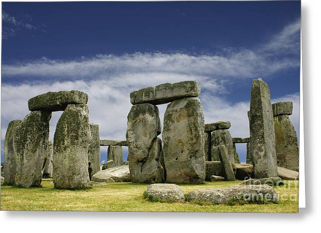 Heathen Greeting Cards - Stonehenge Greeting Card by John Wallace