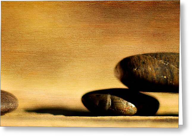 Eps10 Greeting Cards - Stones on canvas Greeting Card by Toppart Sweden