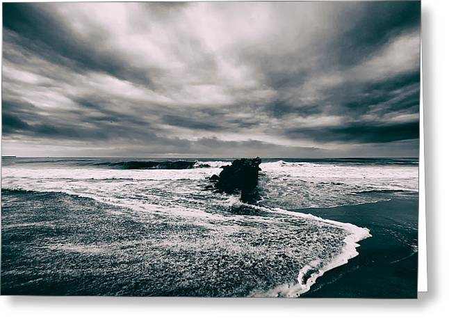 Storm Clouds; Sunset; Twilight; Water Greeting Cards - Storm Clouds Greeting Card by Jay Mantri