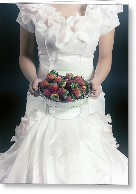 Colander Greeting Cards - Strawberries Greeting Card by Joana Kruse