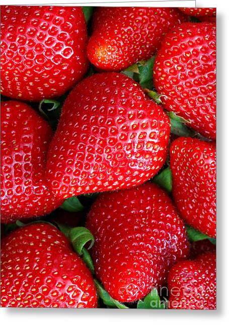 Healthy Greeting Cards - Strawberries Greeting Card by Mariusz Blach