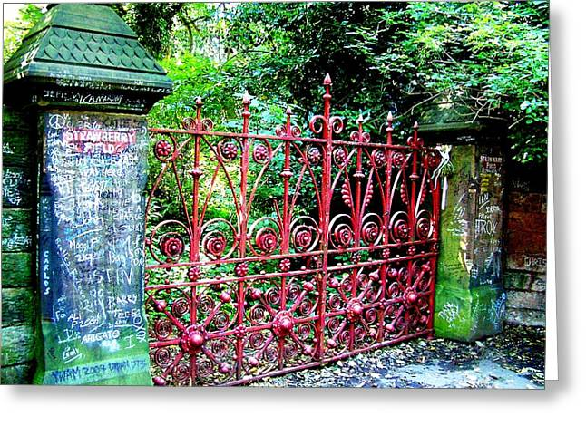 Sgt Pepper Photographs Greeting Cards - Strawberry Field Gates Greeting Card by Steve Kearns