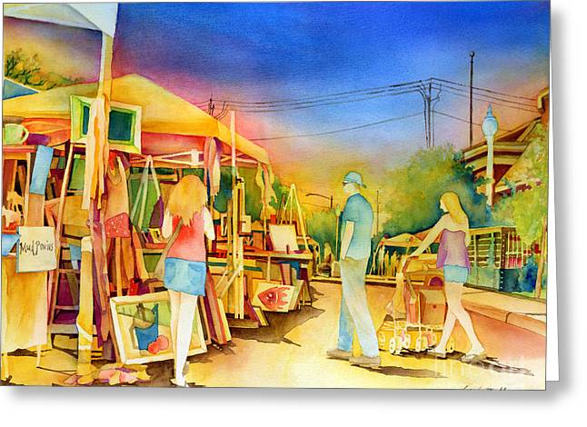Street View Greeting Cards - Street Art Fair Greeting Card by Hailey E Herrera