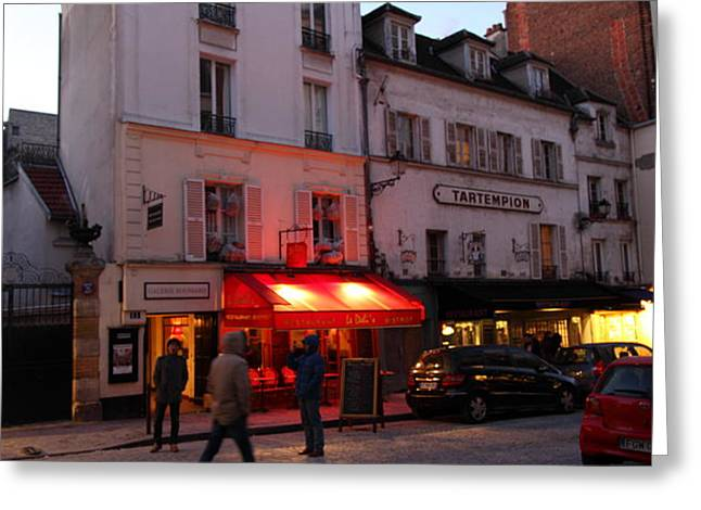 Street Scenes - Paris France - 01133 Greeting Card by DC Photographer