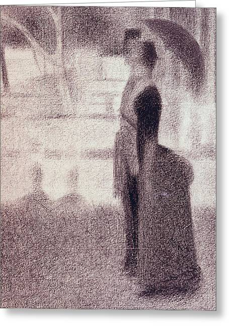 La Grande Jatte Greeting Cards - Study for Sunday Afternoon on the Island of La Grande Jatte Greeting Card by Georges Pierre Seurat