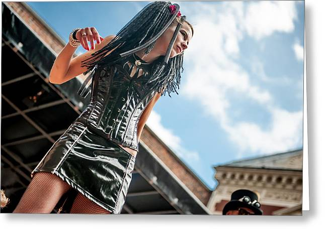 Outfit Greeting Cards - Summer Darkness 1. Gothic Festival in Utrecht Greeting Card by Jenny Rainbow