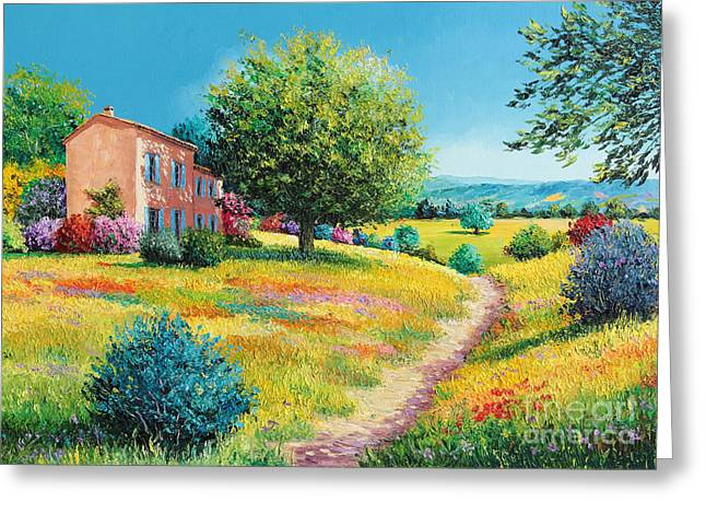 Marc Greeting Cards - Summer house Greeting Card by Jean-Marc Janiaczyk