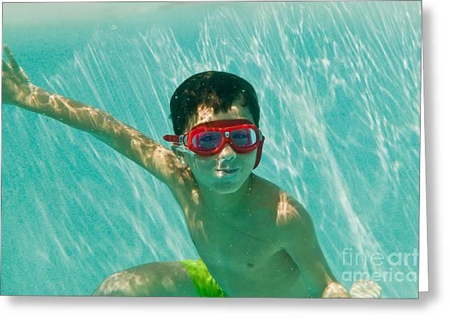 Swimwear Greeting Cards - Summer Greeting Card by Juan  Silva