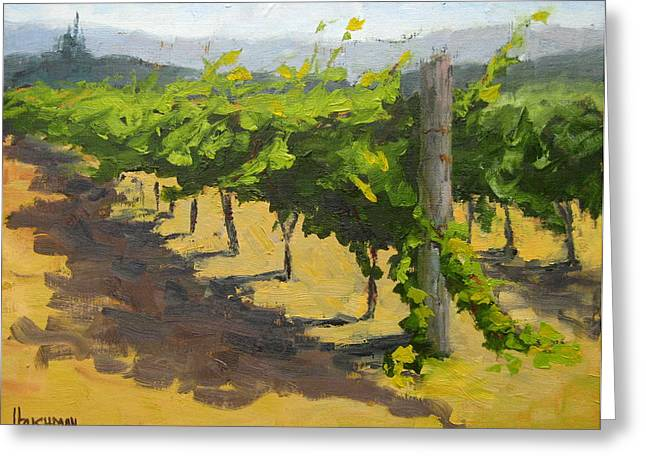 Grapevines Greeting Cards - Summer Riesling Greeting Card by Laurel Bushman