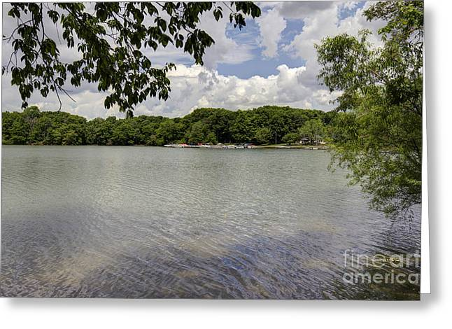 Colorful Cloud Formations Greeting Cards - Summer time at Moraine View State Park Greeting Card by Alan Look