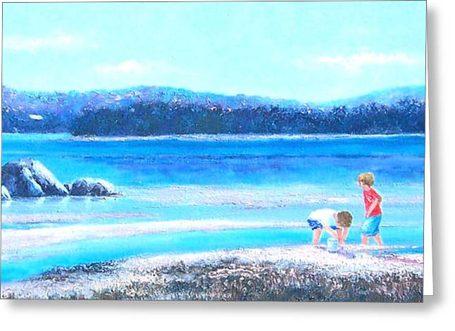 Beach Art Greeting Cards - Sunday Afternoon Greeting Card by Jan Matson