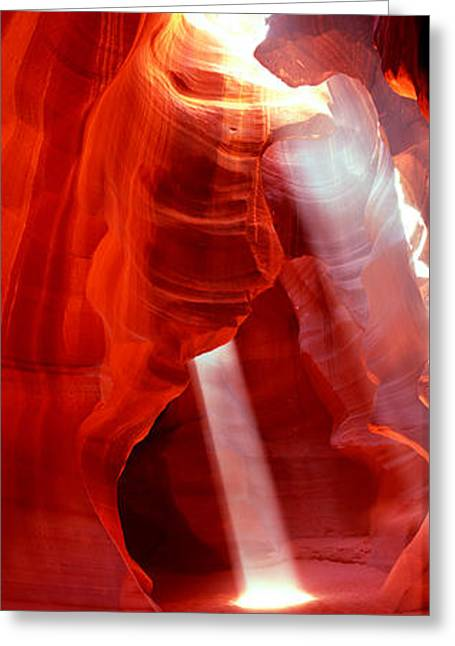 Lake Powell Greeting Cards - Sunlight Passing Through Rock Greeting Card by Panoramic Images