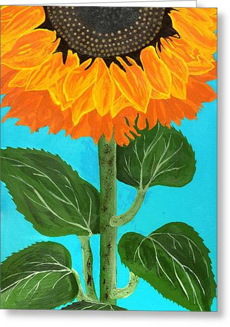 Sienna Greeting Cards - Sunny Flower Greeting Card by Rick Hurst