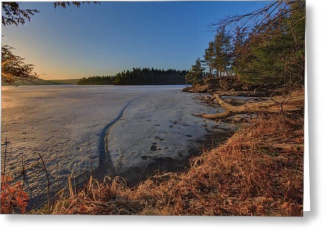 Redwoods Greeting Cards - Sunrise on Millsite Lake Greeting Card by Everet Regal