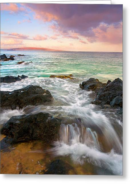 Maui Greeting Cards - Sunrise Surge Greeting Card by Mike  Dawson