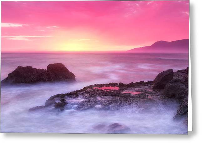 Santa Cruz Ca Greeting Cards - Sunset at Shelter Cove Greeting Card by Chris Frost