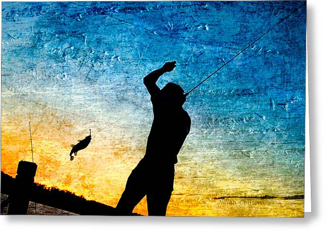 Richmond Greeting Cards - Sunset Catch Greeting Card by Jillian  Chilson