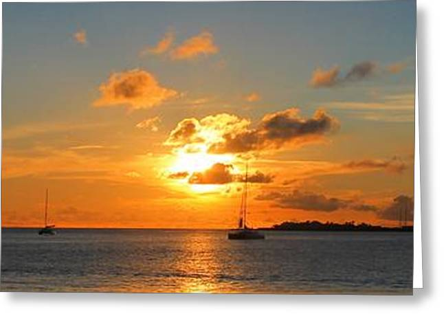 Panoramic Ocean Greeting Cards - Sunset Greeting Card by James Markey