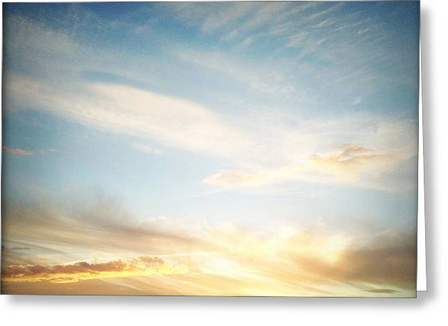 Sunset Abstract Greeting Cards - Sunset Greeting Card by Les Cunliffe