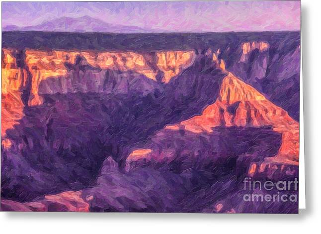 Geology Greeting Cards - Sunset North Rim Grand Canyon Greeting Card by Liz Leyden