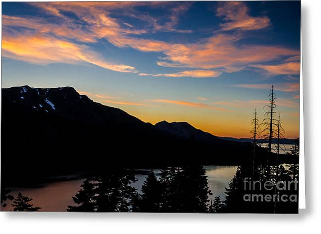 Sunset On Angora Ridge Greeting Card by Mitch Shindelbower