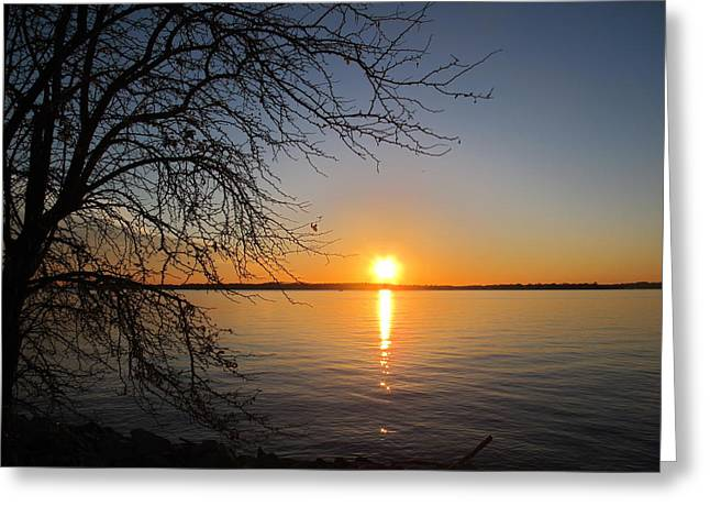 Points Pyrography Greeting Cards - Sunset Over Chesapeake Bay Greeting Card by Valia Bradshaw