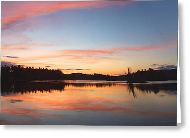 Maine Landscape Greeting Cards - Sunset Over Flying Pond in Vienna Maine Greeting Card by Keith Webber Jr