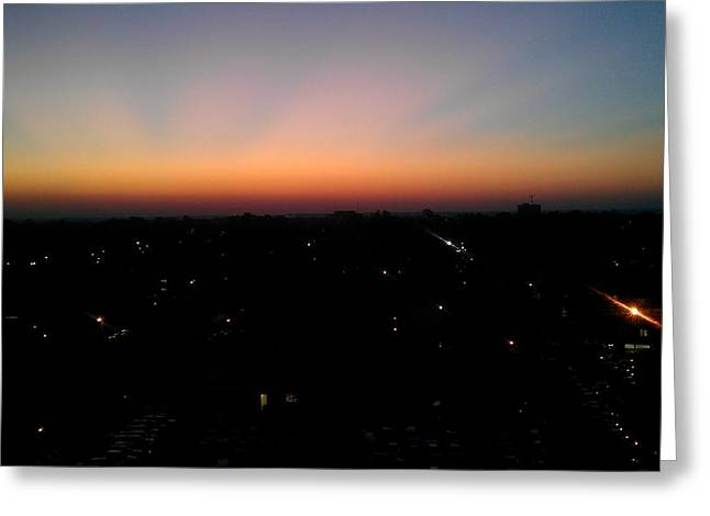 Bryant Denny Stadium Greeting Cards - Sunset Silhouette Greeting Card by Kenny Glover
