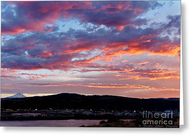 My Ocean Greeting Cards - Sunset Sky Greeting Card by   FLJohnson Photography