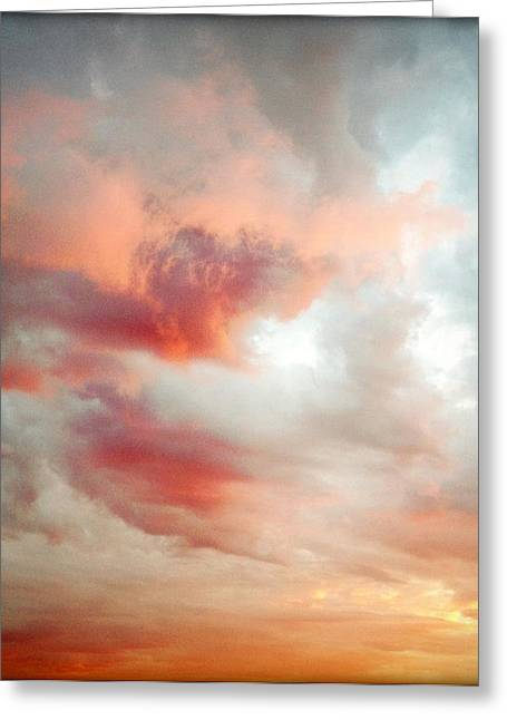Sunset Abstract Photographs Greeting Cards - Sunset sky Greeting Card by Les Cunliffe