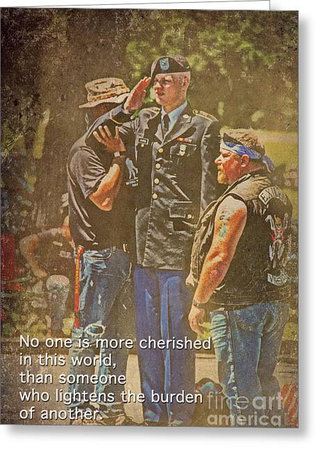 Remembering The Life Greeting Cards - Support Our Troops Greeting Card by Tom Gari Gallery-Three-Photography