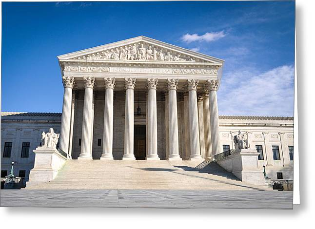 Equality Greeting Cards - Supreme Court Building Greeting Card by Brandon Bourdages