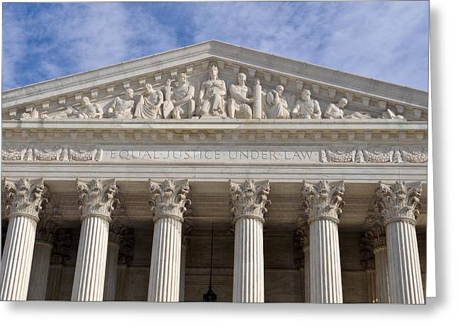 Equality Greeting Cards - Supreme Court of United States Greeting Card by Brandon Bourdages