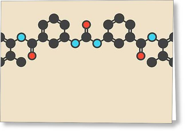 Suramin Sleeping Sickness Drug Molecule Greeting Card by Molekuul