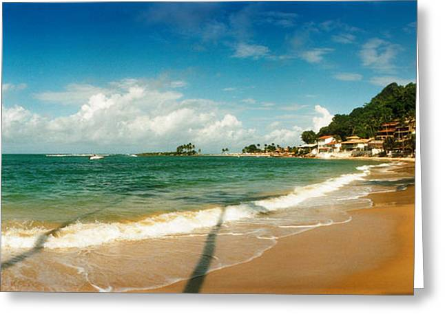 Sao Paulo Greeting Cards - Surf On The Beach, Morro De Sao Paulo Greeting Card by Panoramic Images