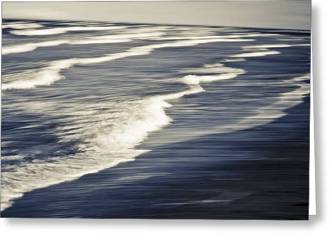 Abstract Movement Greeting Cards - Surf Patterns At Anchor Point In South Greeting Card by Kevin Smith
