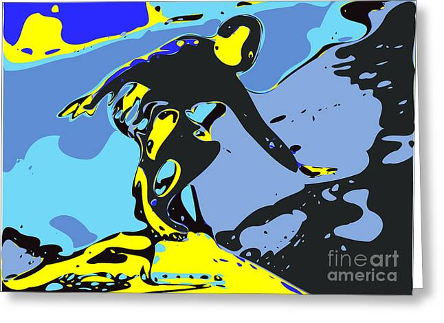 Surfer Greeting Card by Chris Butler