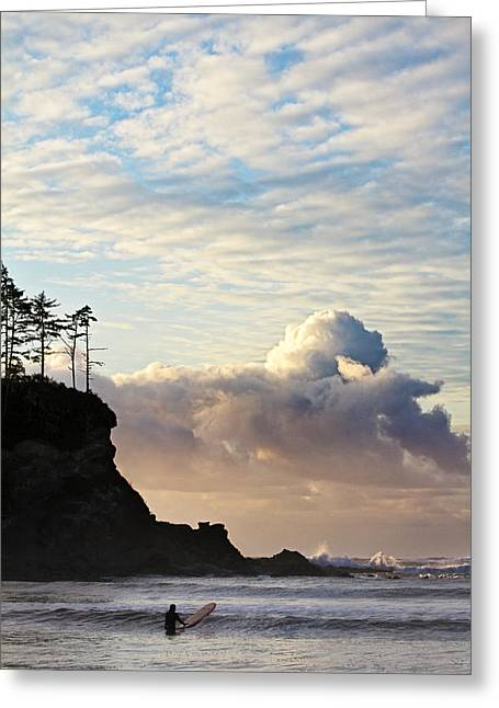 Sunset Bay State Park Greeting Cards - Surfs Up Greeting Card by Patricia  Davidson