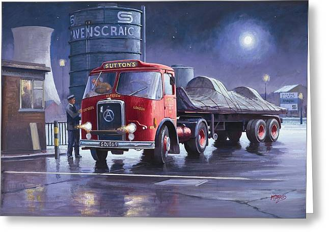 Lorries Greeting Cards - Suttons Atkinson. Greeting Card by Mike  Jeffries